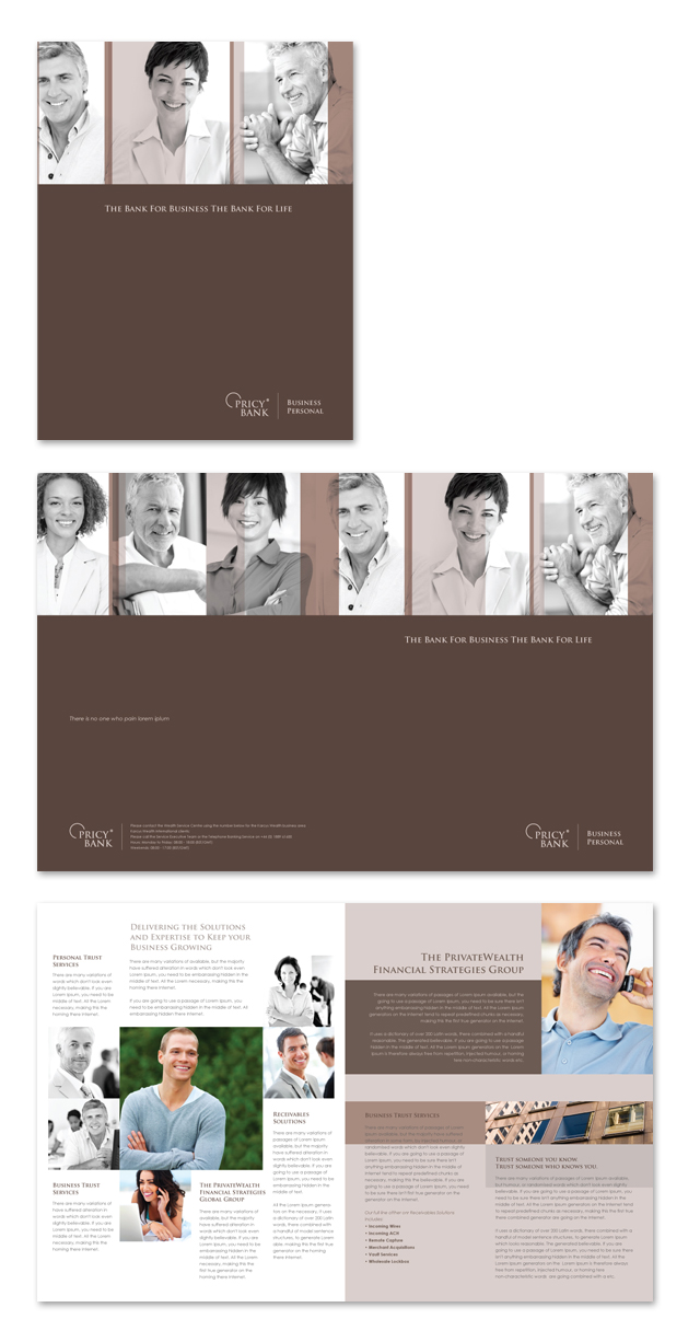 Private Bank Brochure Template