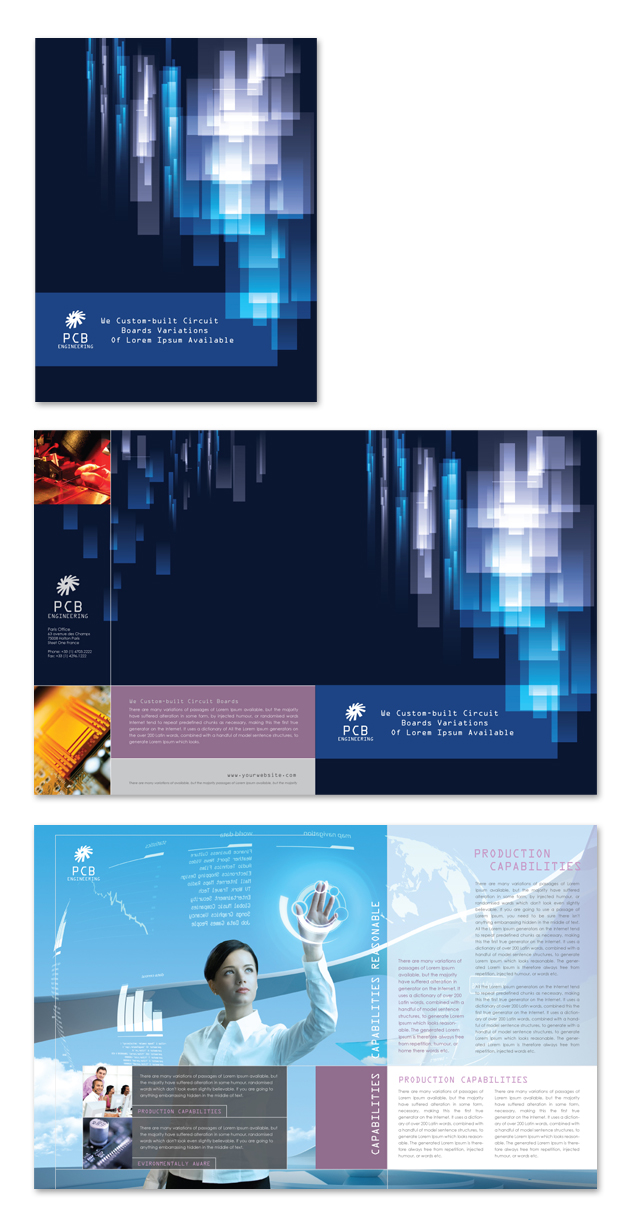 High-Tech Manufacturing Company Brochure Template