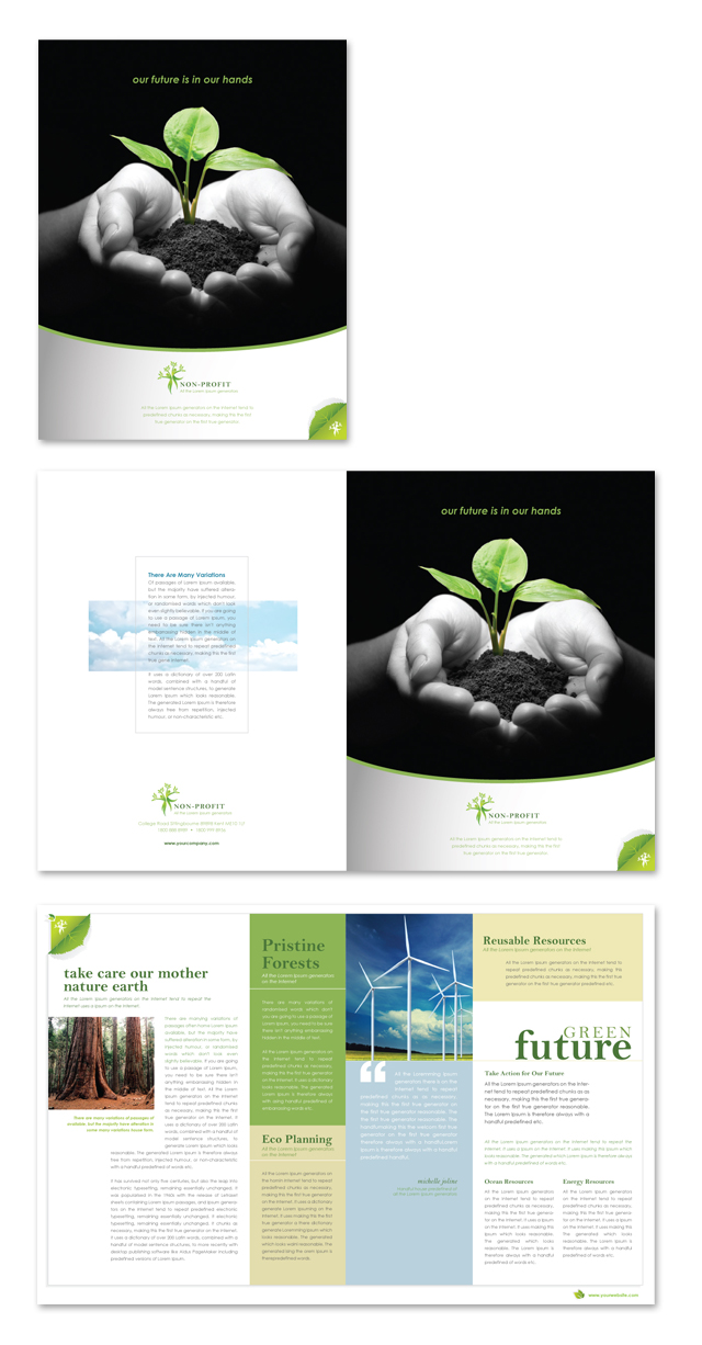 Environmental & Agricultural Non Profit Brochure Template
