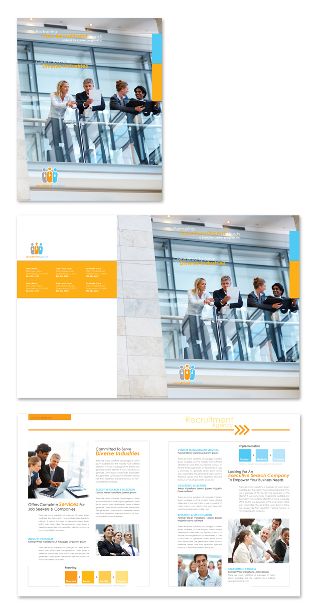 HR Recruitment Company Brochure Template