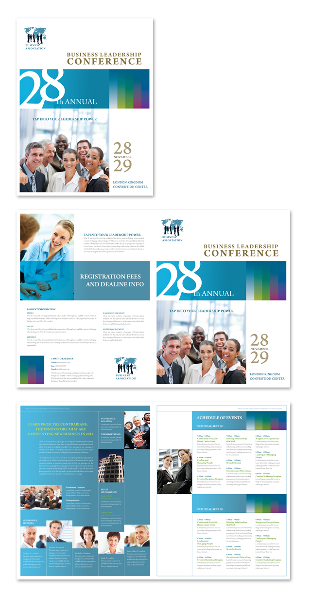 Business Leadership Conference Brochure Template
