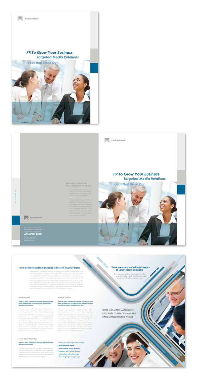 Public Relations Brochure Template