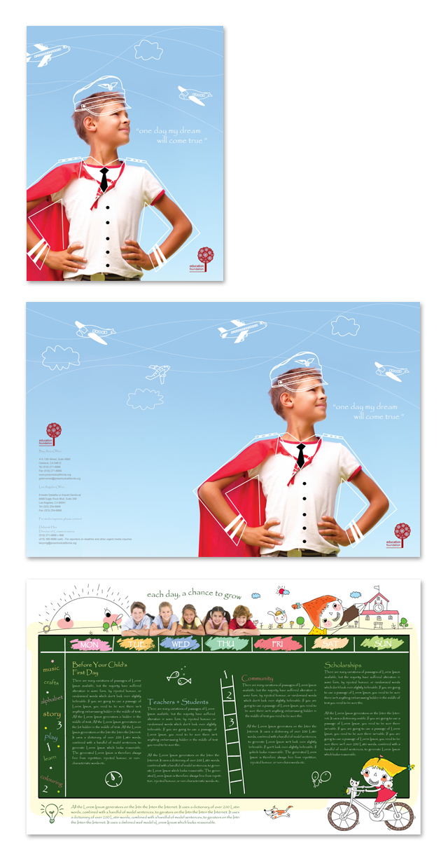 Education Foundation Brochure Template