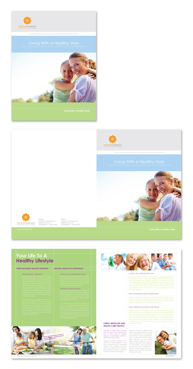 Healthcare Management Brochure Template