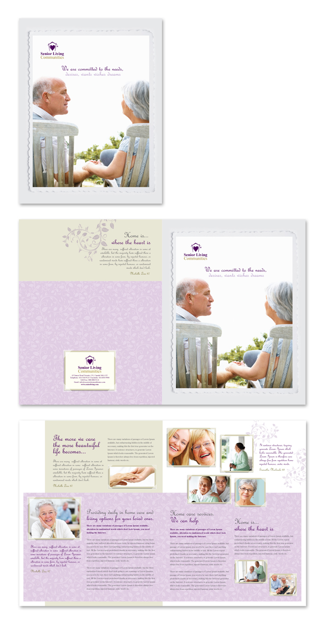 Senior Care Services Brochure Template