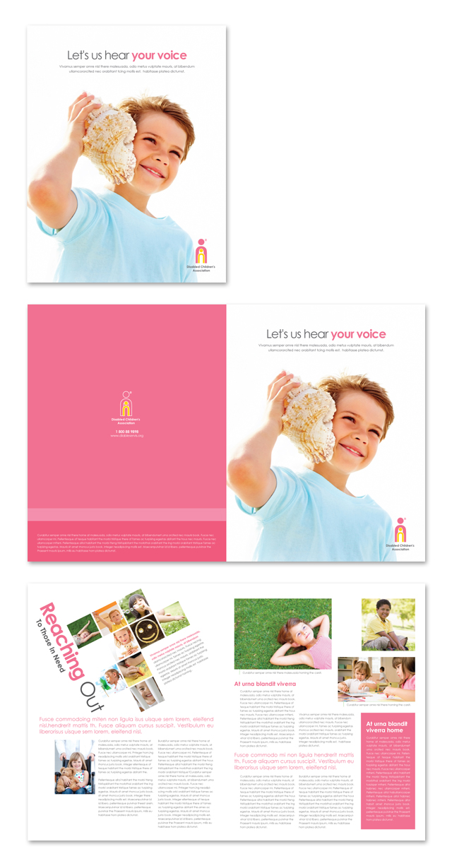 Disabled Children Services Brochure Template