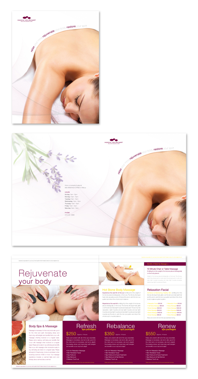 Health Spa & Massage Resort Brochure Template