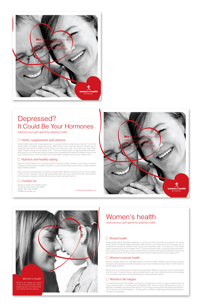 Women's Health Clinic Brochure Template