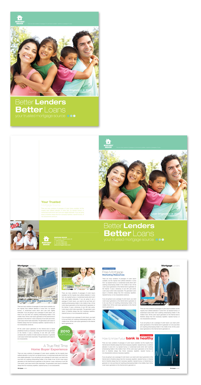 Mortgage Lenders Brochure Template