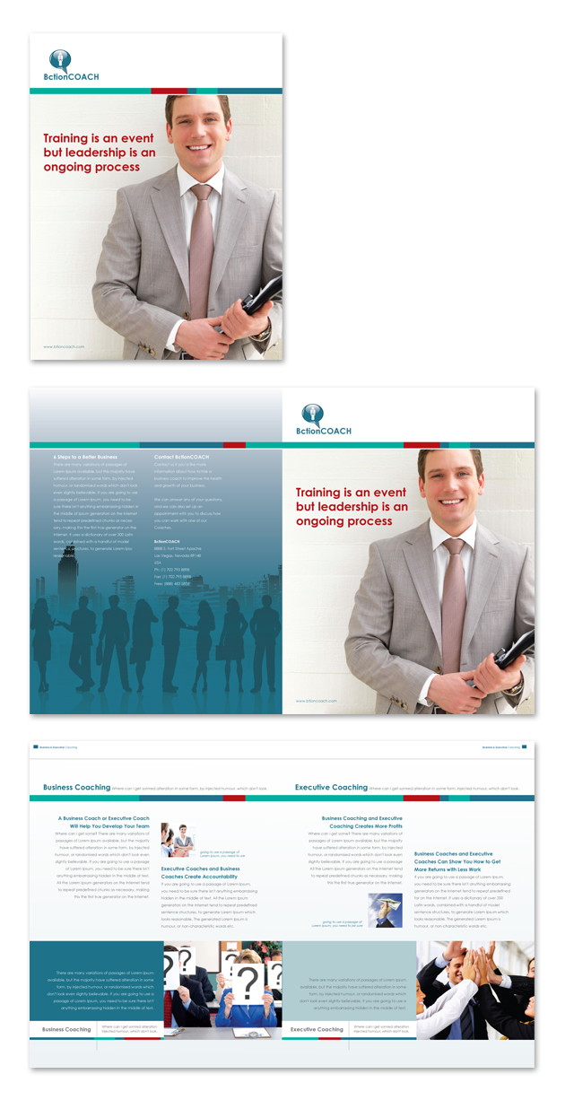 Business Coach & Executive Coach Brochure Template