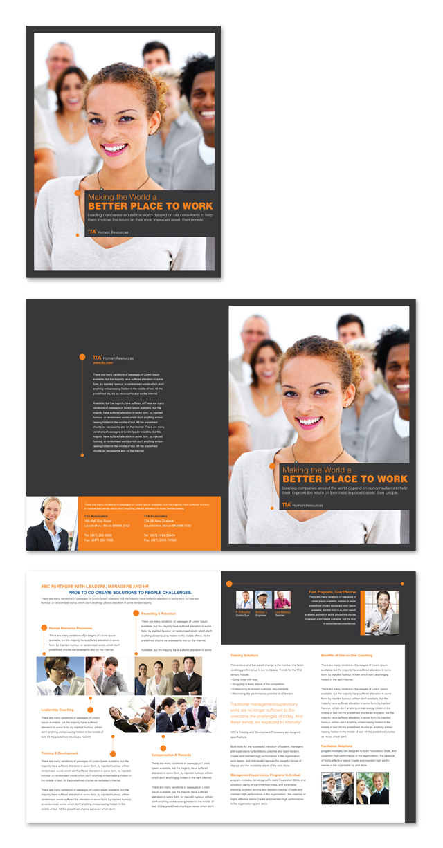 Human Resources Consulting Brochure Template