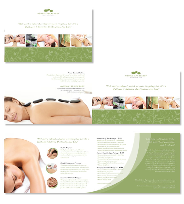 Beauty Spa & Resort Brochure Template