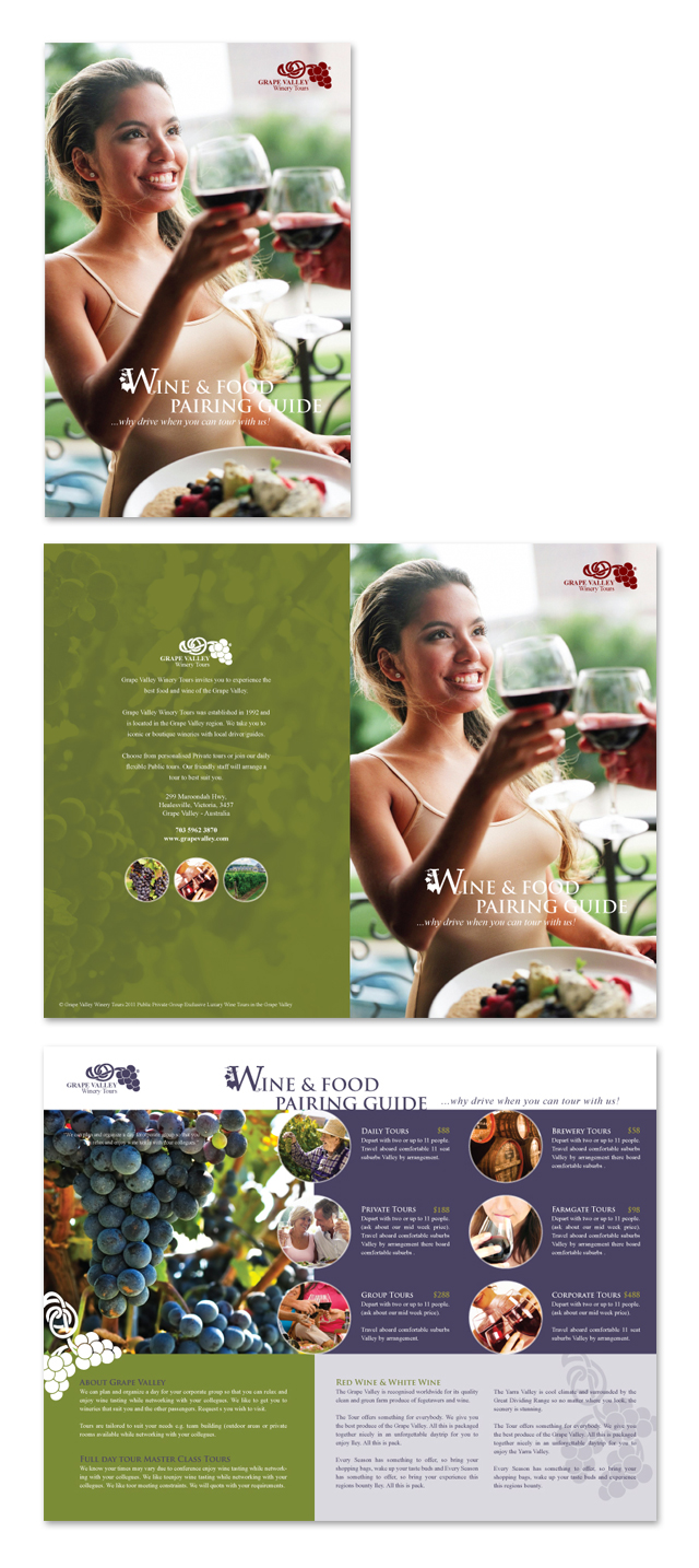 Vineyard & Winery Tour Brochure Template