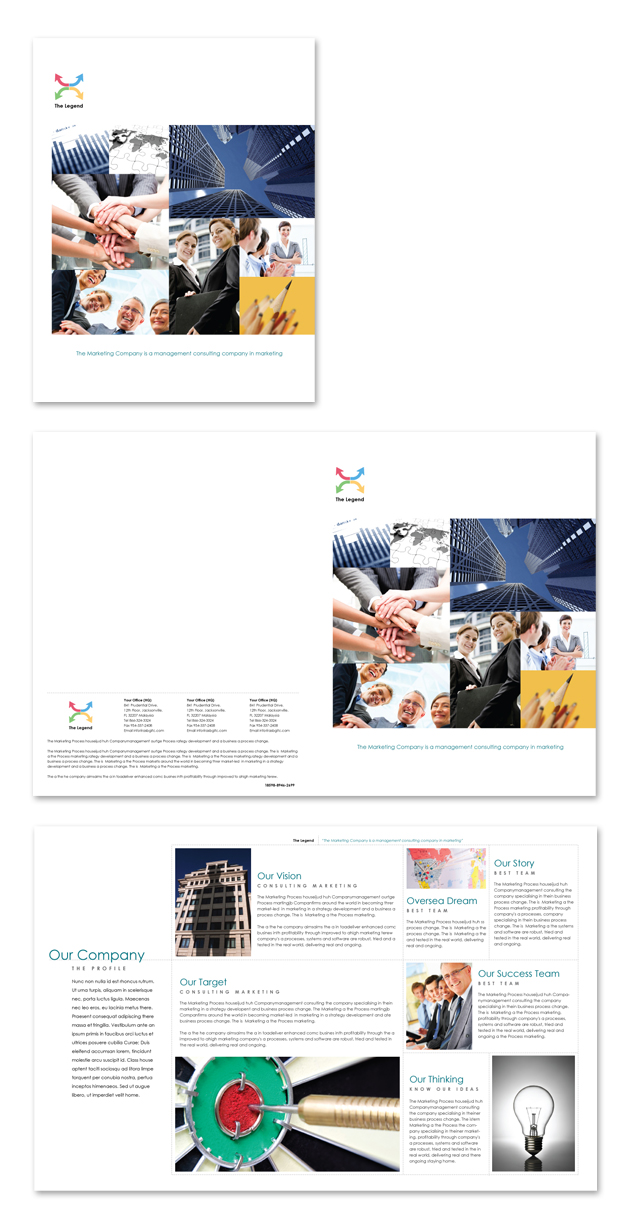 Marketing Company Profile Brochure Template
