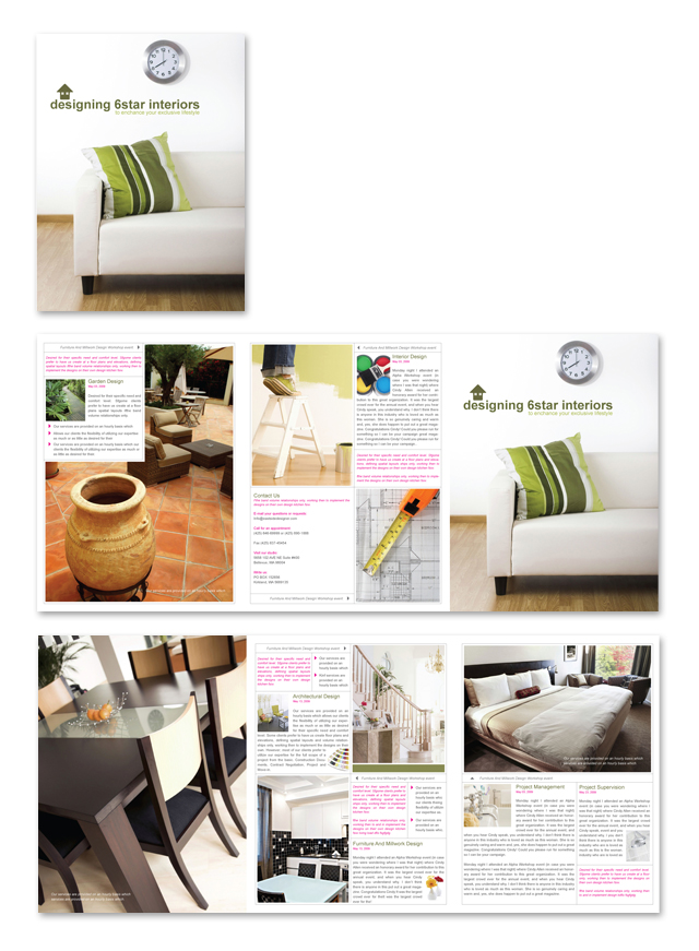 Interior Design & Home Builder Brochure Template