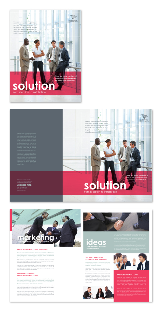Marketing Consultant Brochure Template