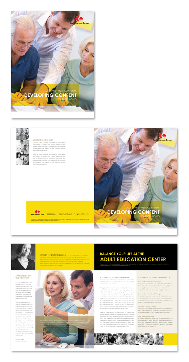 Adult Education Brochure Template