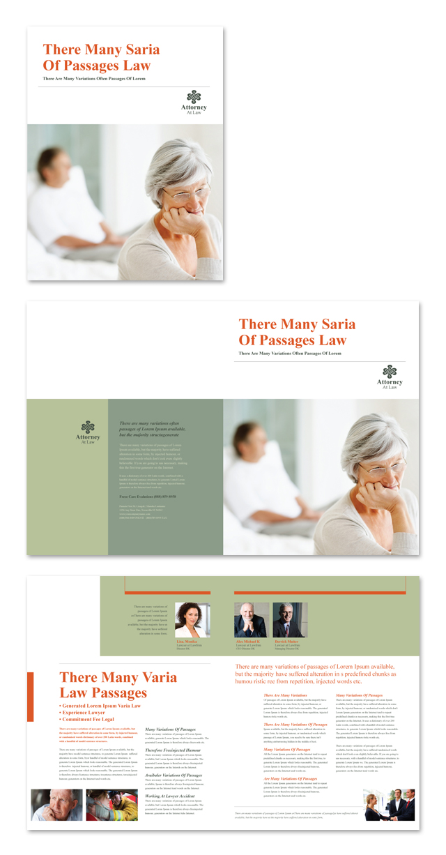 Attorney at Law Brochure Template