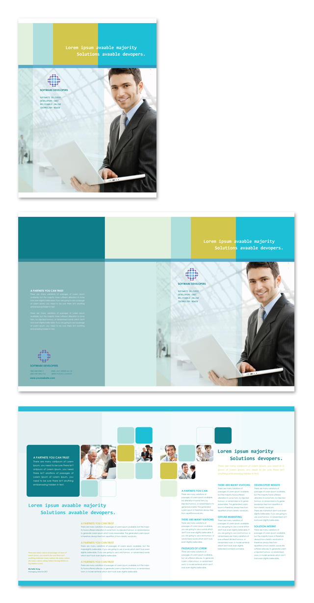 Software Developers Brochure Template