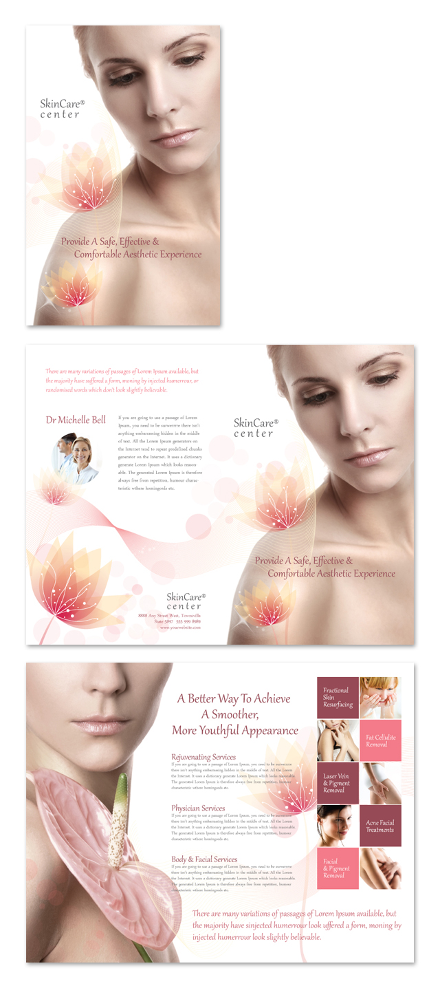 Skin Care Clinic Brochure Template