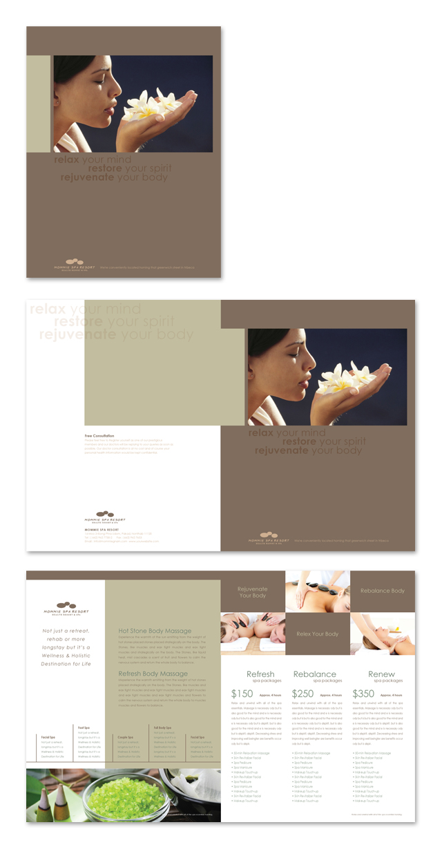 Wellness Spa Resort Brochure Template