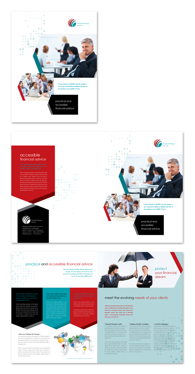 Financial Planning Brochure Template