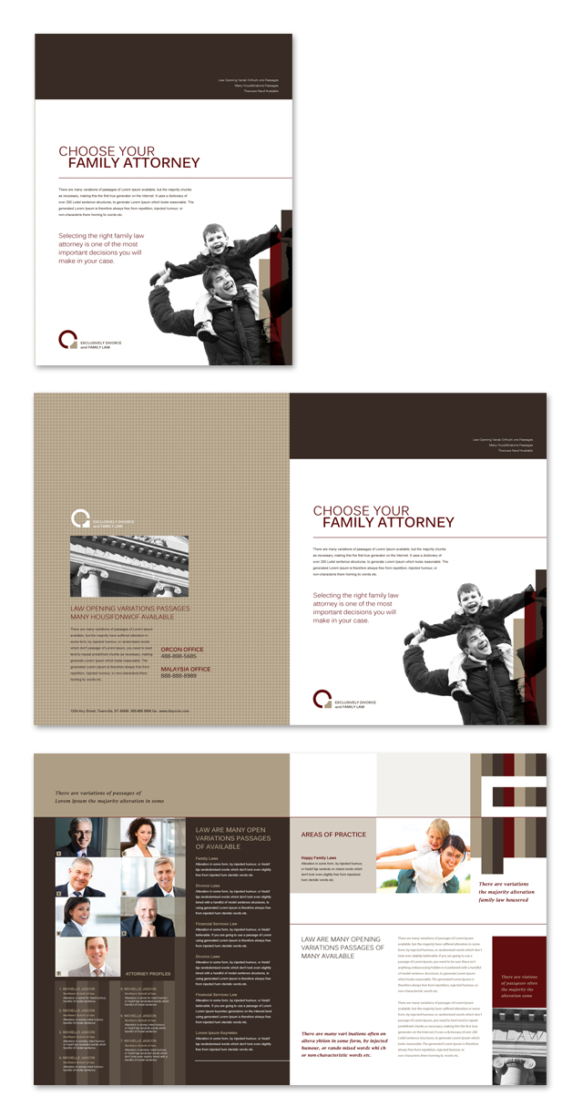 Family Law Brochure Template
