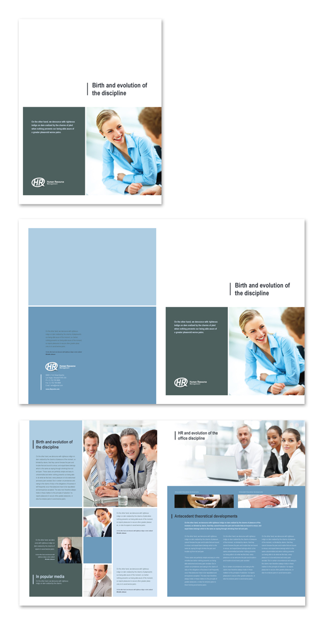 HR Management Brochure Template