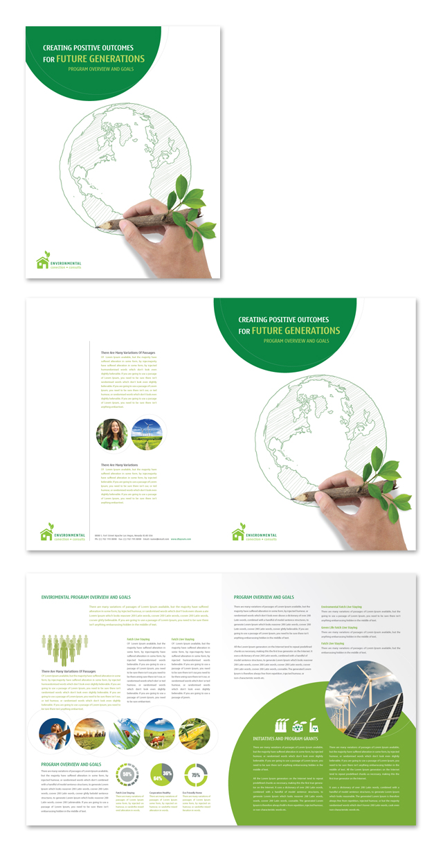 Environmental Protection Brochure Template