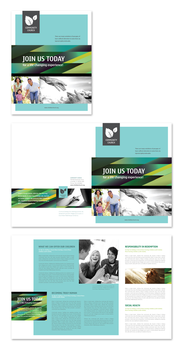 Christian Community Brochure Template