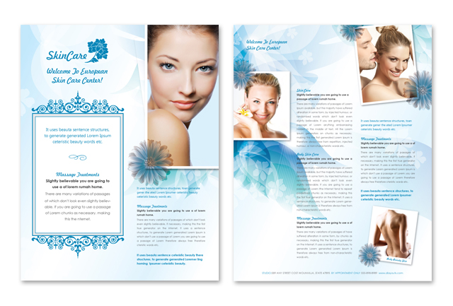 Skincare Center Datasheet Template