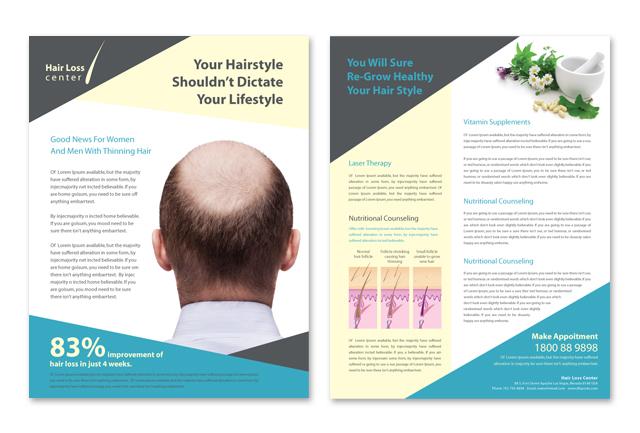 Hair Loss Center Datasheet Template