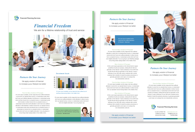 Financial Planning & Consulting Datasheet Template