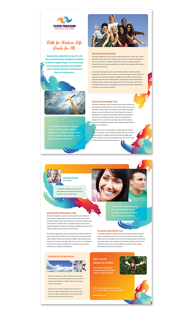 Church Youth Ministry Datasheet Template