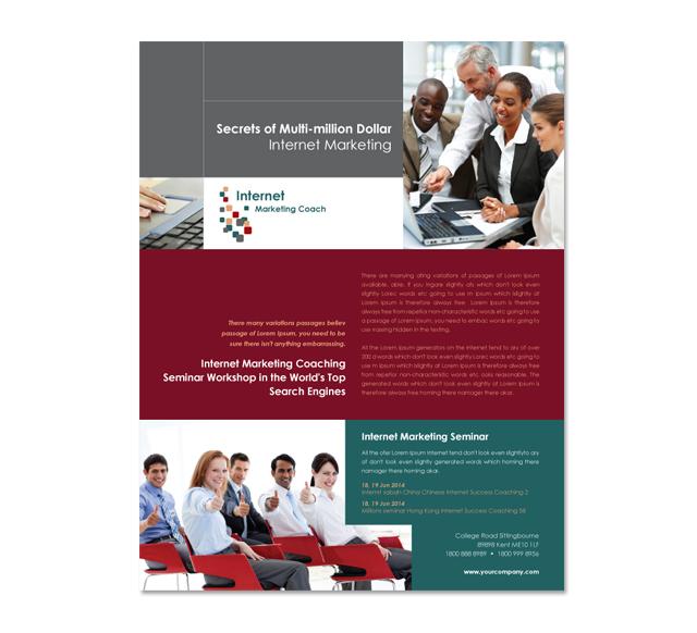Internet Coaching Program Flyer Template