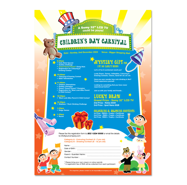 Children's Day Carnival Flyer Template