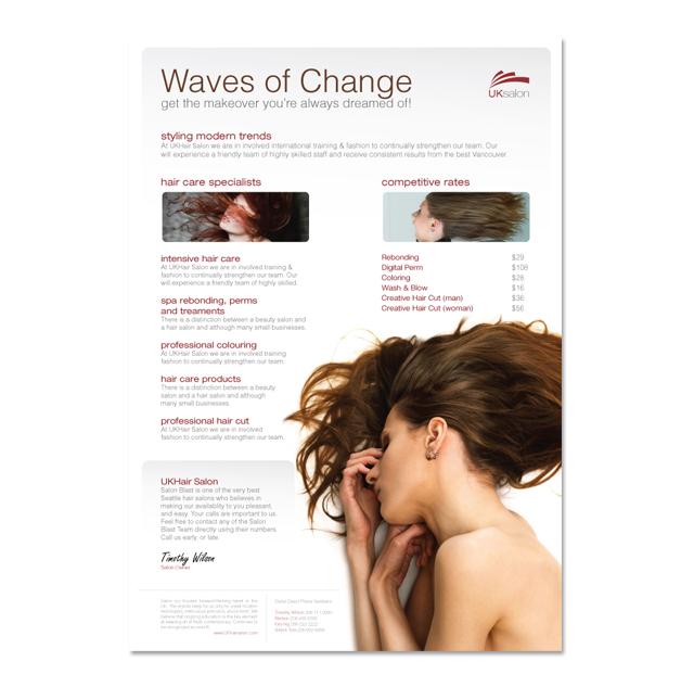 Hair Beauty Salon Flyer Template