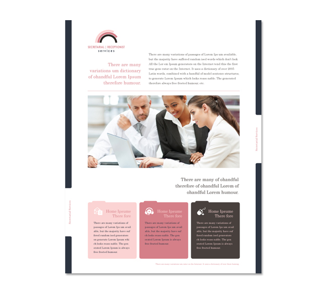 Secretarial Services Flyer Template