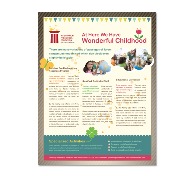 Preschool Education Flyer Template