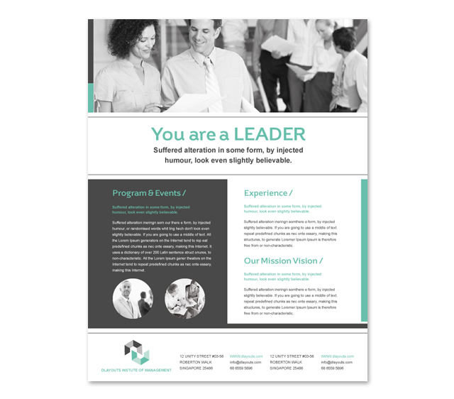 Business Education Flyer Template
