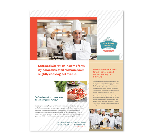 Culinary Institute Flyer Template