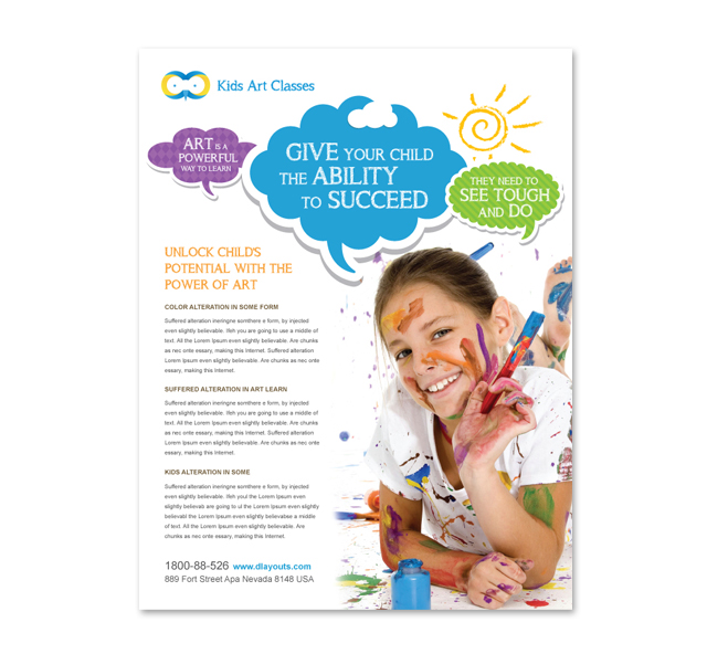 Kids Art Classes Flyer Template