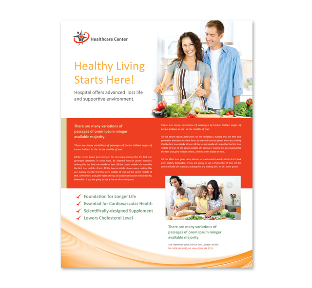Healthcare Management Flyer Template