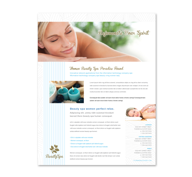 Beauty Spa Salon Flyer Template