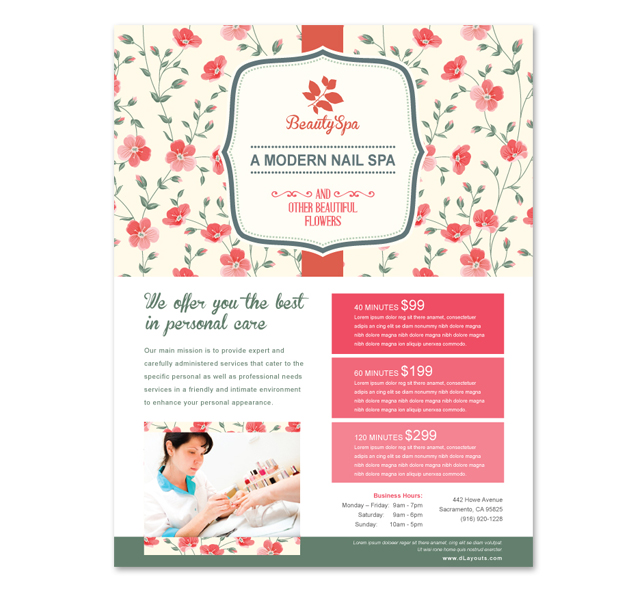 Nail Spa Center Flyer Template
