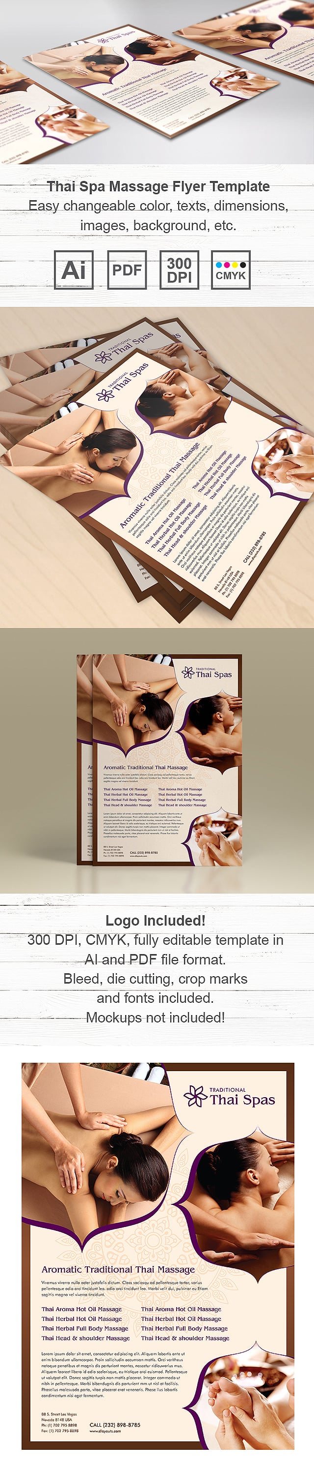 Thai Spa Massage Flyer Template