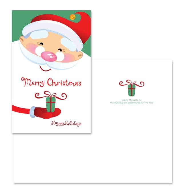 Santa Claus Greeting Card Template