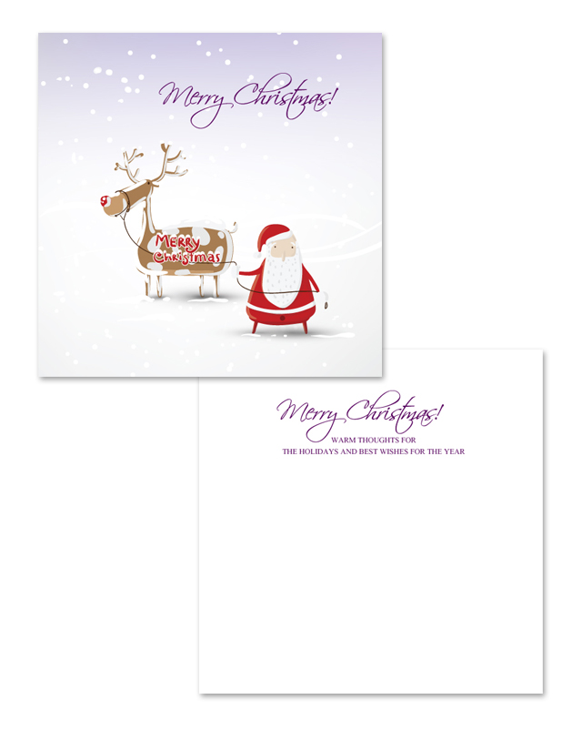 Snow Christmas Greeting Card Template