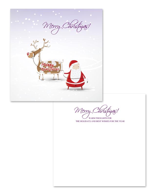 Snow Christmas Greeting Card Template