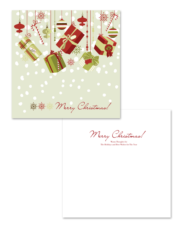 Christmas Gift Greeting Card Template